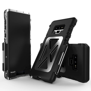 Image 3 - R JUST, odporna na wstrząsy etui do Samsung Galaxy uwaga telefon etui z klapką aluminium Metal król Iron Man 360 etui ochronne etui na telefon