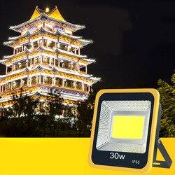 30W COB oświetlenie ogrodowe LED szukaj lampa LED światło halogenowe na zewnątrz na drzewo lampa projektorowa kolorowe wodoodporne zewnętrzny reflektor szerokostrumieniowy Oc15 w Reflektory od Lampy i oświetlenie na
