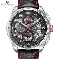 2020 PAGANI Design sports Big Dial Quartz Men Watch Luxury Militry Army Black Steel Watch Waterproof Chronograph Wristwatches