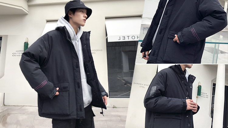 Men's Quality Student Winter Clothes Jacket Men Parka Thick Warm Outwear Korean Youth Streetwear Hip Hop Japan Style Harajuku 2