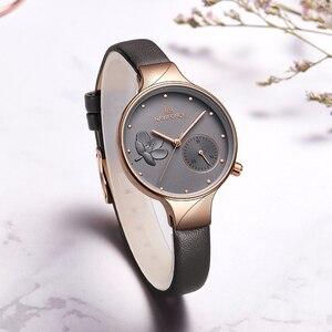 Image 3 - NAVIFORCE Women Watches Top Brand Luxury Fashion Female Quartz Wrist Watch Ladies Leather Waterproof Clock Girl Relogio Feminino