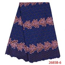 Кружевные материалы для африканских французских кружевных тканей высокого качества, кружева с вышивкой, хлопковые шнурки для женщин, KS2685B-6