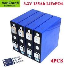 4 PIÈCES 3.2v 135ah lifepo4 Batterie Rechargeable BRICOLAGE 12v 24v 36v 48v cycle profond paquet pld pile au lithium phosphate de fer de lithium