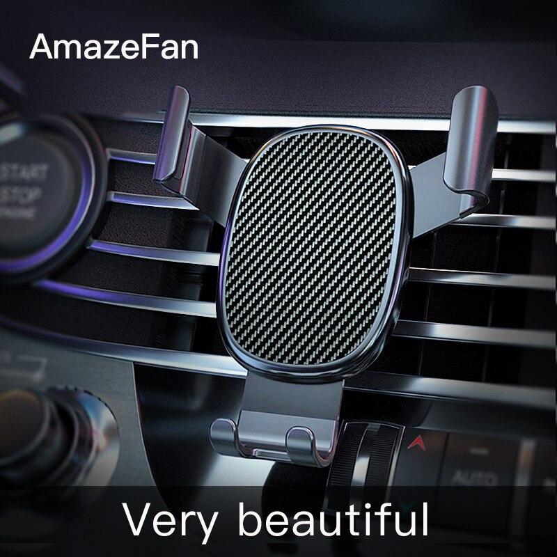 AmazeFan Del Telefono Dell'automobile Del Supporto Del Basamento di Gravità per il iPhone Supporto Del Basamento Del Supporto Staffa Fissa per Huawei Xiaomi Mobile Del Telefono Nuovo 3
