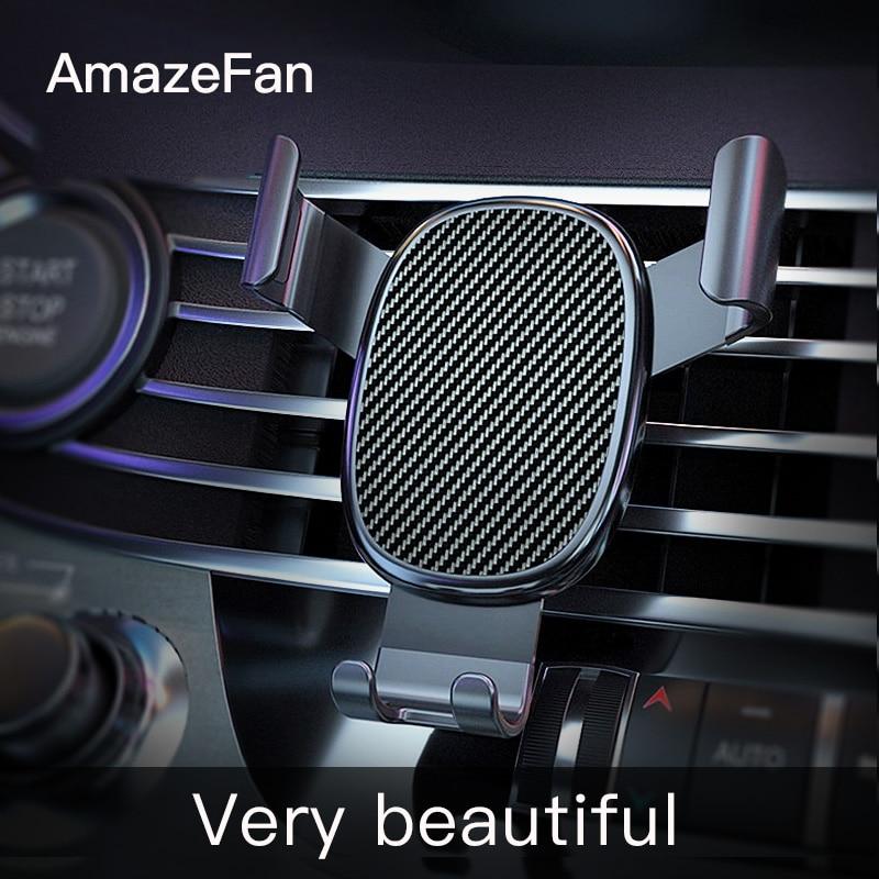 AmazeFan soporte para teléfono de coche gravedad para iPhone soporte fijo soporte para Huawei Xiaomi teléfono móvil nuevo 3