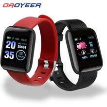 D13 relógio inteligente 116 mais freqüência cardíaca pulseira inteligente esportes relógios banda inteligente à prova dwaterproof água smartwatch para ios android dropshipping