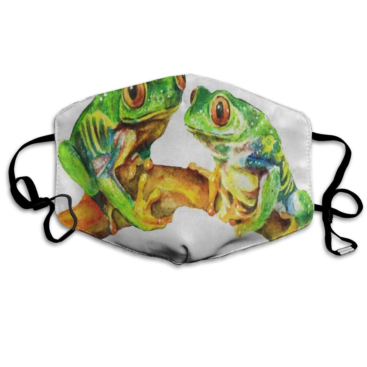 ZHOUSUN Dustproof Tropical Watercolor Frog Mouth Cover Mask Protective   Warm Windproof Mask