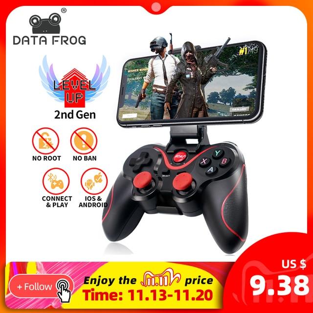 נתונים צפרדע אלחוטי Bluetooth Gamepad תמיכה אפליקציה רשמית בקר משחק עבור iphone אנדרואיד חכם טלפון עבור PS3 מחשב טלוויזיה תיבה