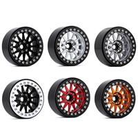 "INJORA 4PCS 2.2"" Metal Beadlock 12-Spokes Wheel Rim for RC Crawler Car Traxxas TRX4 TRX6 Axial SCX10 90046 RR10 Wraith 2"