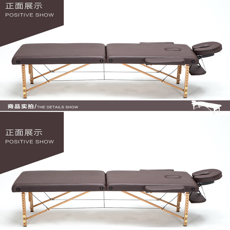 Folding Beauty Massage bed Massage Portable Household Wooden bed Acupuncture Beauty Bed Physiotherapy Tattoo Bed  186*60 CM