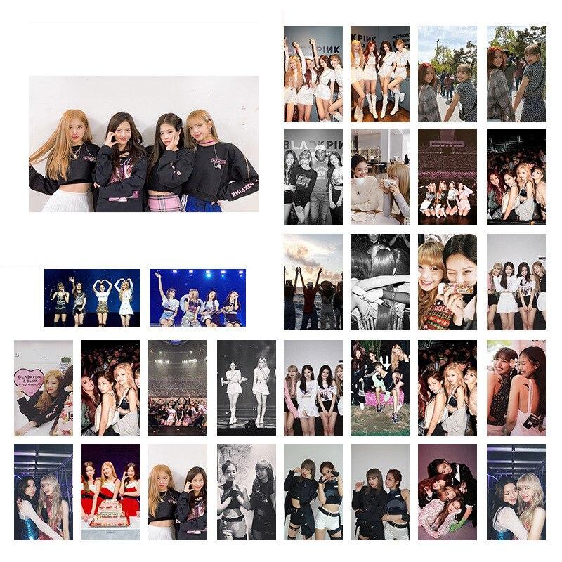 30Pcs/set Korean KPOP BLACKPINK 2019 New Album Photo Cards Selfie Made LOMO Card Postcard Decoration Women Fans Supplies Gifts