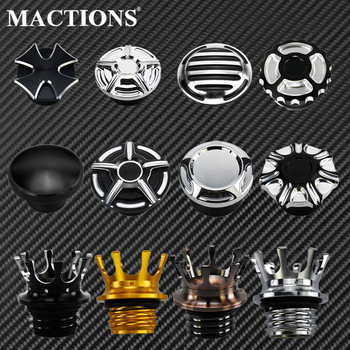 Motorcycle Crown Style Vented Fuel Tank Cap CNC Oil Cap Fuel Gas Tank Cover For Harley Sportster Dyna Softail Touring Road King pop up fuel tank screw motorcycle for harley sportster 883 1200 xl883 1200 48 72softail dyna touring 1996 2016 gas cap oil cover
