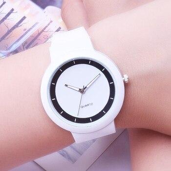Relojes Blancos Moda Mujer Banda De Silicona Analógica Reloj De Pulsera De Cuarzo Relojes De Mujer Relojes De Pulsera De Cuarzo Reloj Femenino Reloj