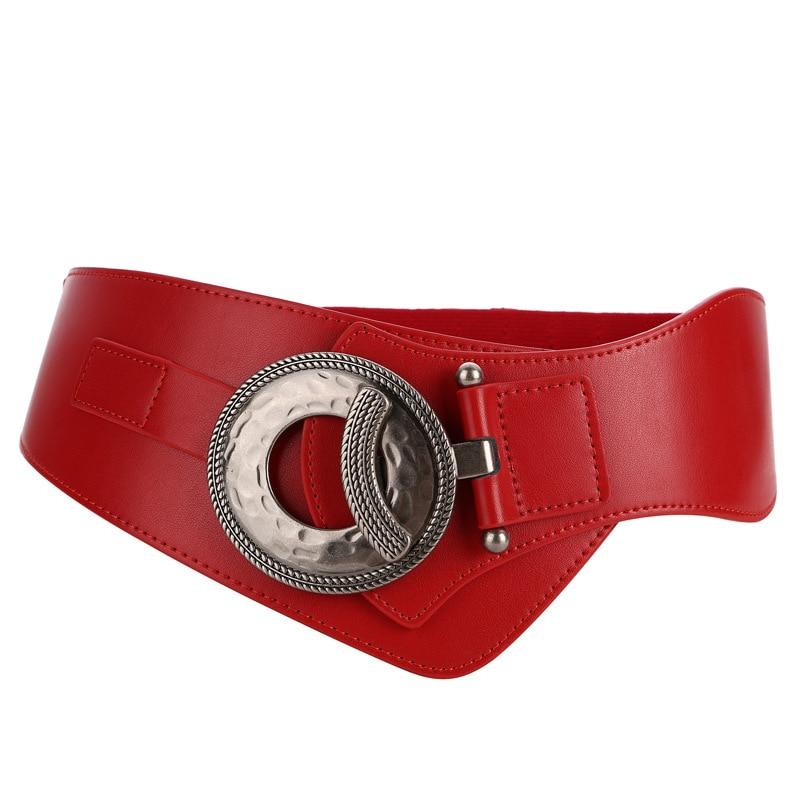 EFKGH Women Super Wide Belt PU Decorative Belt Elastic Corset Belt Ladies Fashion Wild Wide Girdle Waist Belt