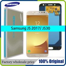 100 oryginalny SUPER AMOLED 5 2 wymiana wyświetlacza do SAMSUNG Galaxy J5 2017 J530 J530F ekran dotykowy Digitizer zgromadzenia tanie tanio Pojemnościowy ekran Nowy 1920x1080 3 for SAMSUNG Galaxy J5 2017 J530 J530F LCD i ekran dotykowy Digitizer Black Pink Gold Light Blue