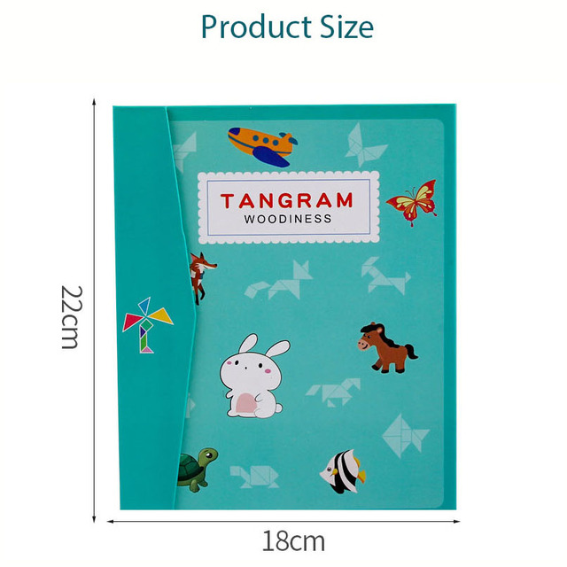 Kids Magnetic 3D Puzzle Jigsaw Tangram Thinking Training Game Baby Montessori Learning Educational Wooden Toys 6