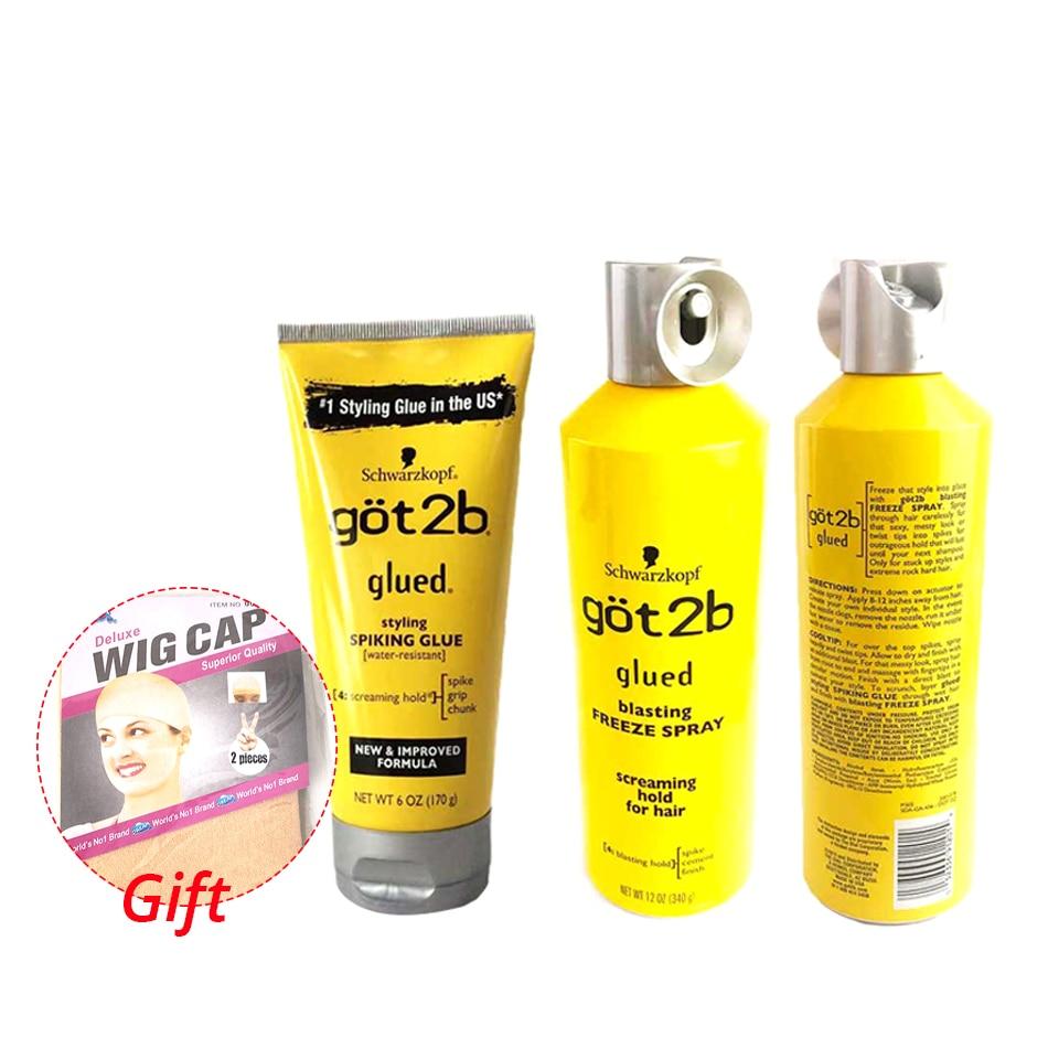 got 2b spray human hair styling gel got2b spray glued 12 oz / 6 oz Freeze Spray Ultra Glued Invincible Styling Hair Gel 1.25oz 1