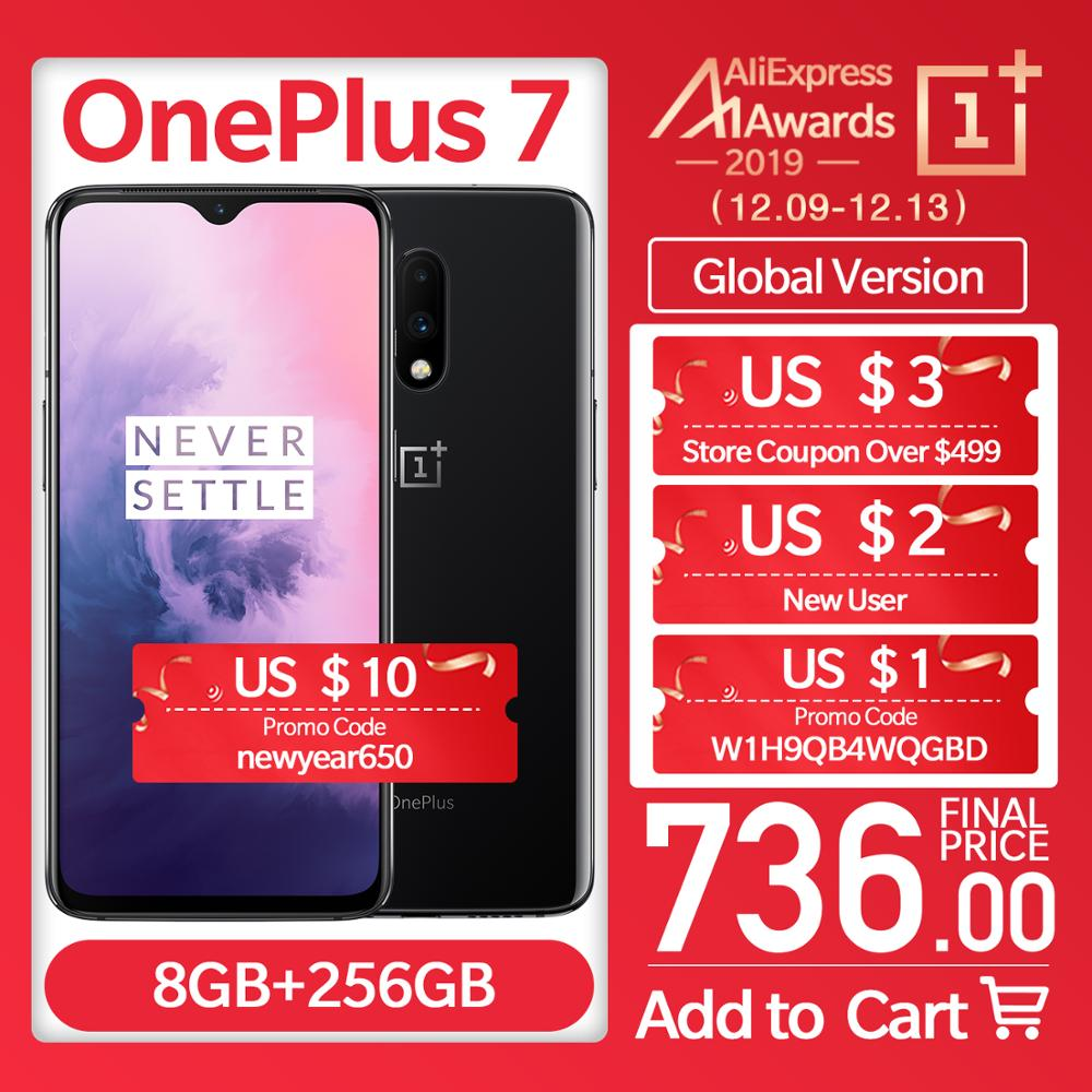 "Global Version OnePlus 7 6/8GB RAM 128/256GB ROM Smartphone Unlock 6.41"" AMOLED Display 3700 MAh Snapdragon 855 Octa Core 48 MP"