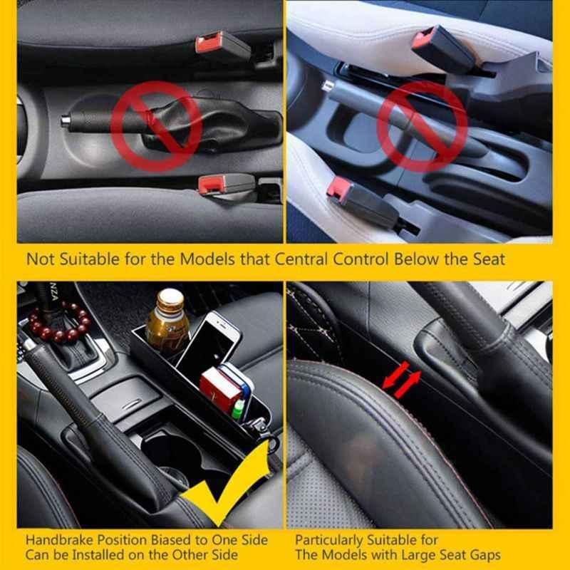1 Pcs Opbergdoos Auto Organizer Seat Kloof Case Pocket Car Seat Side Slit Voor Portemonnee Telefoon Munten Sigaret Sleutels kaarten Voor Universele