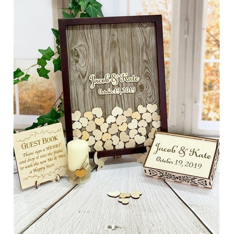 Wedding Shadowbox Wedding Guest Book Wedding Guestbook Alternative heart drop top box unique guestbook