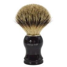 Saf süper porsuk saç tıraş fırçası iyi adam için