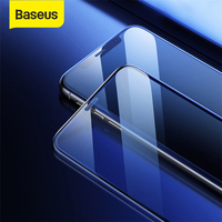 Baseus Full-Screen Curved Tempered Film Anti-Blue Light Glass Screen Protector Cellular Dust Prevention For iPhone 11/XS/Max/XR