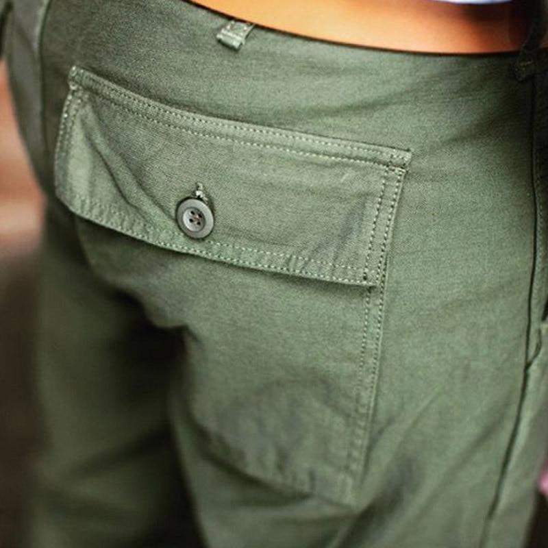 TL-0002 Us Military Style Cargo Pants Mens 8 Oz Cotton Vintage OG107 Slim Fitting Casual Pants