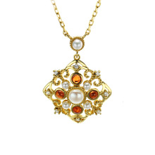 925 Sterling Silver Gold-plated Garnet Natural Pearl Pendants Necklaces Designer 2019 Newest Choker Necklace Jewelry Gift