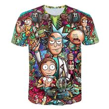 2018 Rick and Morty By Jm2 Art 3D t shirt Men tshirt Summer