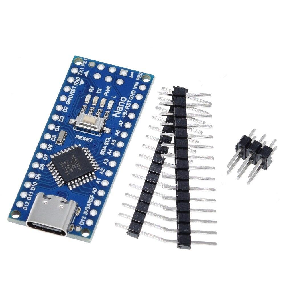 Type-C / Micro USB Nano 3.0 With the bootloader compatible Nano 3.0 controller for arduino CH340 USB driver 16Mhz ATMEGA328P 2