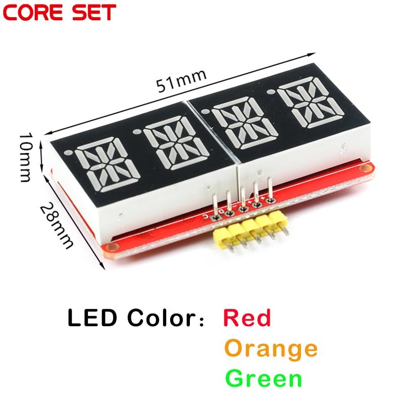 HT16K33 0.54 pouce 0.54 4 bits mètre Tube numérique Module daffichage à LED IIC I2C compteur de contrôle 3.3V 5V pour Arduino rouge/vert/Orange
