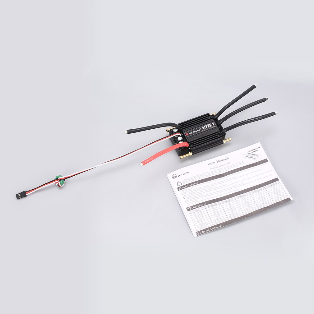 <font><b>Flycolor</b></font> 70A 50A 90A 120A <font><b>150A</b></font> Brushless <font><b>ESC</b></font> Speed Control Support 2-6S Lipo BEC 5.5V/5A for RC Boat F21267/71 image