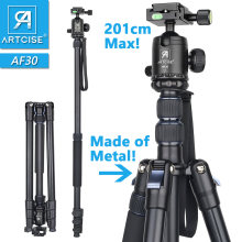 Professional High Tripod 201cm 79in Max Height Monopod Stand For DSLR Camera Fast Flip Lock CNC 36mm Big Ball Head Metal Body