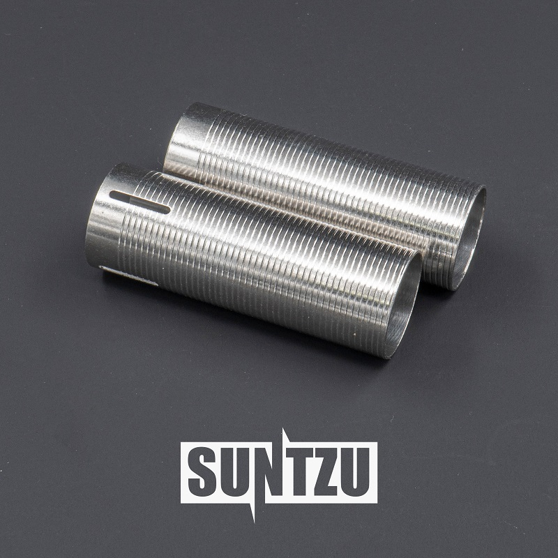 Gear Box Parts Stainless Steel  Heat Dissipation Silver 100%/75% Cylinder For Water Gel Ball Blaster AEG Airsoft