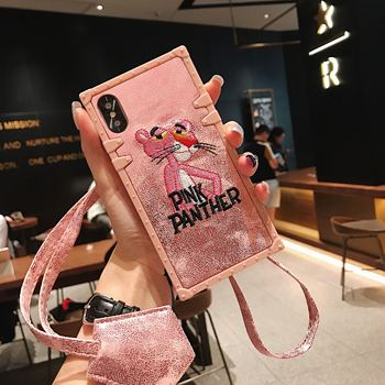 Barbie Pink Panther, fashion brand cartoon comics shatter-resistant mobile phone case is suitable for iphone6 to iphone11Pro