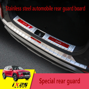 for 20  HYUNDAI ix25 rear guard panel new generation ix25 modified special protective Sequin trunk moulding