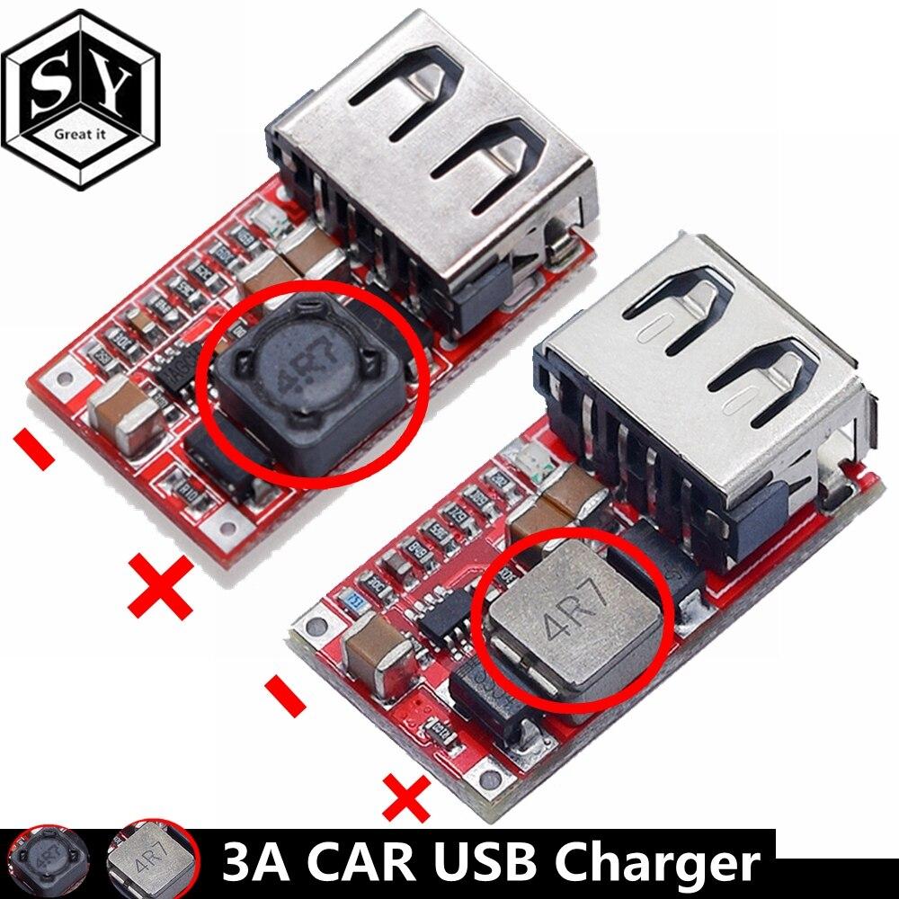 Автомобильный модуль зарядного устройства Great IT Fine 6-24 в 12 В/24 В до 5 В 3 А, 1 шт., понижающий преобразователь USB постоянного тока, модуль питания ...
