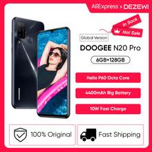 DOOGEE N20 Pro Quad Camera telefony komórkowe Helio P60 Octa Core 6GB RAM 128GB ROM wersja globalna 6 3 #8222 FHD + Android 10 OS Smartphone tanie tanio Nie odpinany Inne CN (pochodzenie) Rozpoznawania linii papilarnych Rozpoznawania twarzy 16MP 4300 Nonsupport english Rosyjski