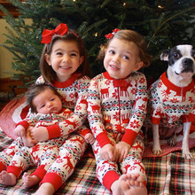 Family Christmas Pajamas 2020 Mommy and Daughter Daddy Matching Clothes Baby Christmas Outfits For Kids New Year Sleepwear
