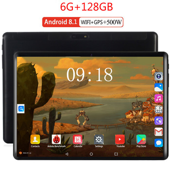 2020 New Design 10.1 inch Tablet PC Octa Core 6GB RAM 128GB ROM 1280*800 IPS 2.5D Tempered Glass 10.1 Tablets Android 8.0