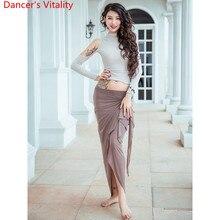 נשים בטן ריקוד בפועל אימון בגדי מזרחי הודי ריקוד סקסי לגזור למעלה ארוך חצאית שלב ללבוש Perforamnce תלבושות
