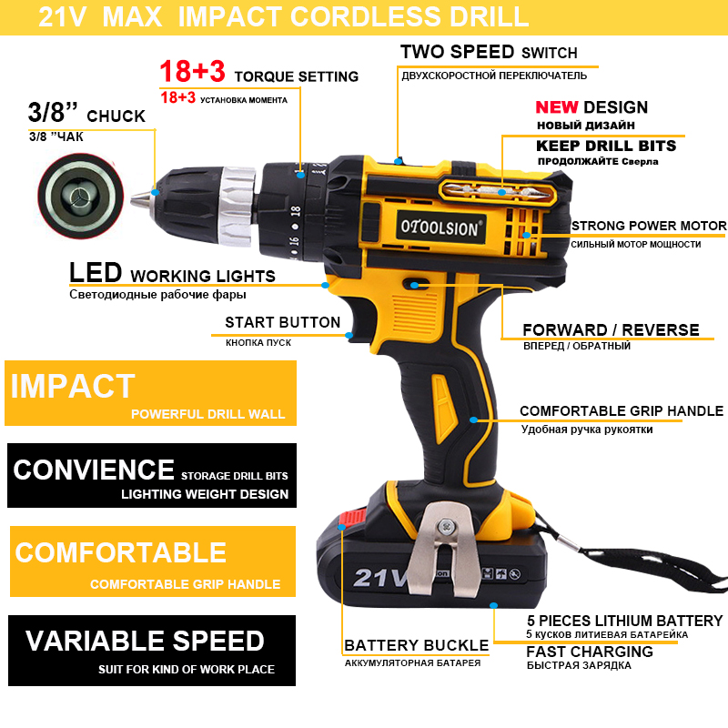 Function Electric 45N New Mini Drill Screwdriver Hand Screw M Drill 21V Multi Design Power Tools Cordless Rechargeable