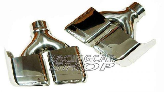 S63 S65 AMG STYLE Dual Exhaust Tips Pipes Fit For Mercedes Benz W212 E350 E500 E550 E63 W221 W166 W204 1PAIR M121W 2