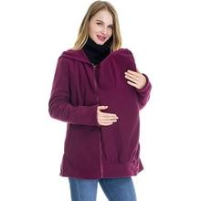 Casual Long Zipper Hooded Jacket Hoodies Hoodie Women Sweatshirt Maternity Coats Winter for Pregnant