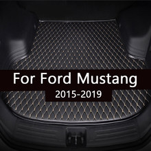 Tapete tronco do carro para ford mustang 2015 2016 2017 2018 2019 forro de carga tapete interior acessórios cobrir