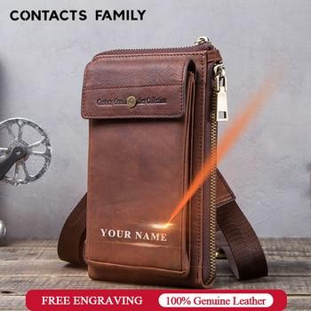 Retro Leather Phone bag case For iphone se 2020 cover Pocket Cases for iphone 8 11 pro Waist Bag Belt wallet zipper shoulder bag 1