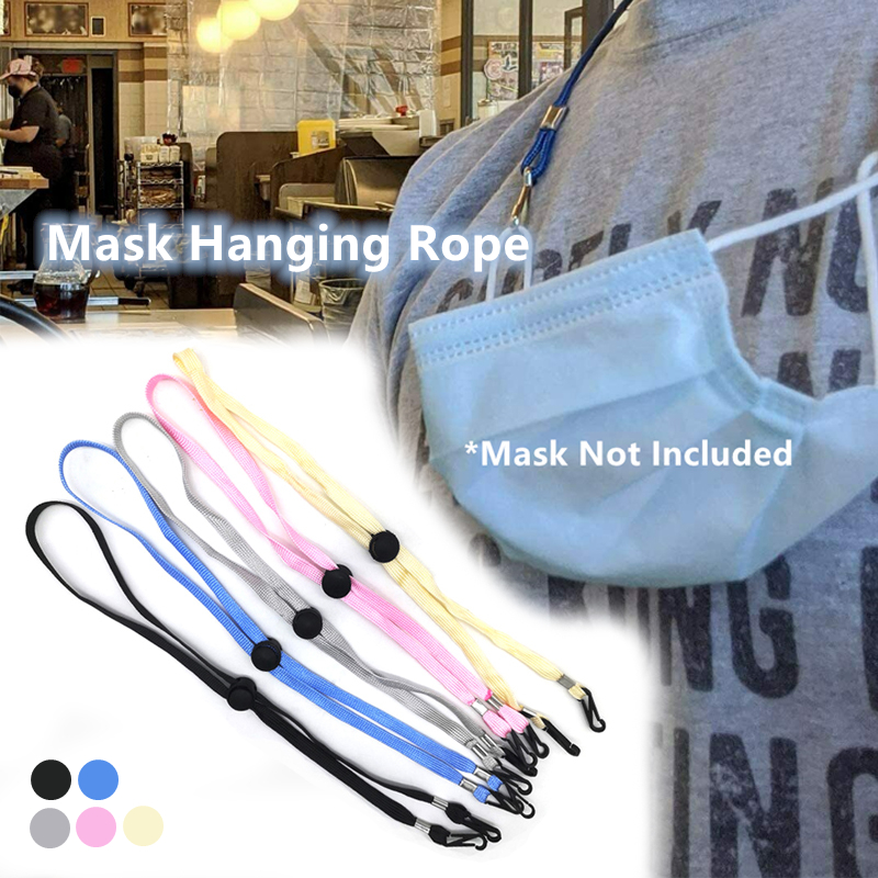 Adjustable Face Mask Lanyard Strap For Kids And Adults Handy Convenient Safety Holder Face Mask Neck Around Strap Dropship