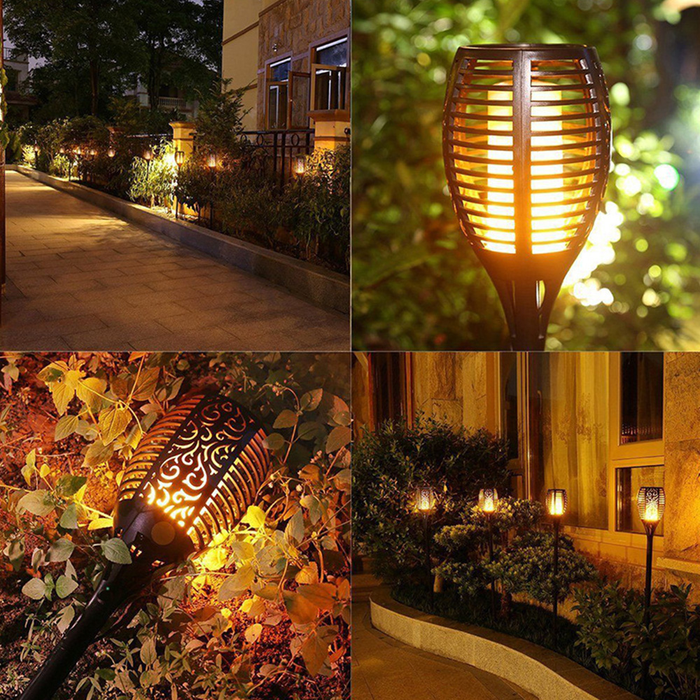 5W Led Solar Garden Light Outdoors IP65 Waterproof Street Garland Flame Lamp For Country House Cottage Path Lighting Torch Lamps