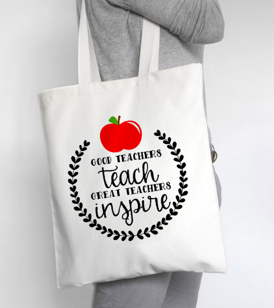 Teacher Tote Bag New Women's Casual Canvas Shoulder Tote Bag Lady Handbag Reusable Large Capacity Casual Tote Bags For Teachers