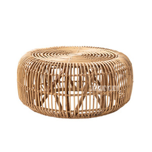 Круглый журнальный столик из ротанга ручной работы из настоящего ротанга чайный столик современный минималистичный стиль небольшой Плете...